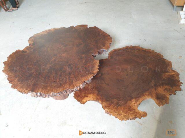 Bàn trà nu gỗ óc chó BT01