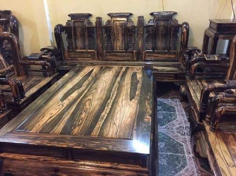 Bộ bàn ghễ gỗ cẩm lai đen