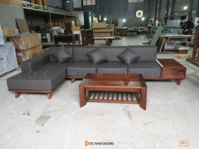 Sofa gỗ óc chó SF11