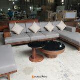 Sofa gỗ óc chó SF22