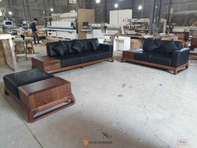 Sofa gỗ óc chó SF23