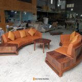 Sofa gỗ óc chó SF41