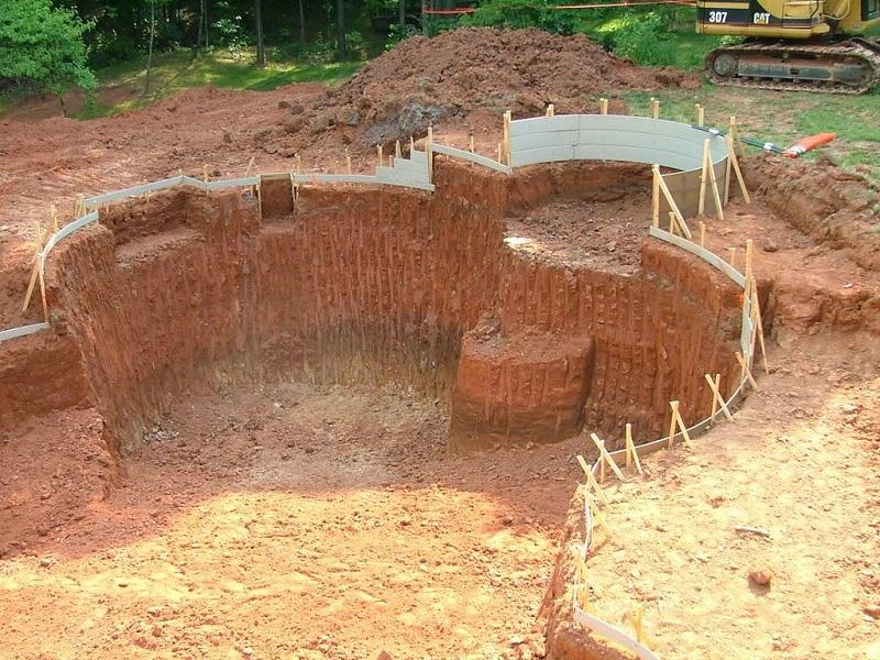 Tính m3 đất cần đào để làm bể bơi