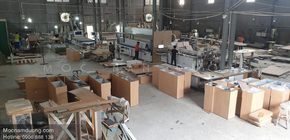 Các sản phẩm nội thất đã hoàn thiện và chuẩn bị đưa lên lắp đặt tại các công trình