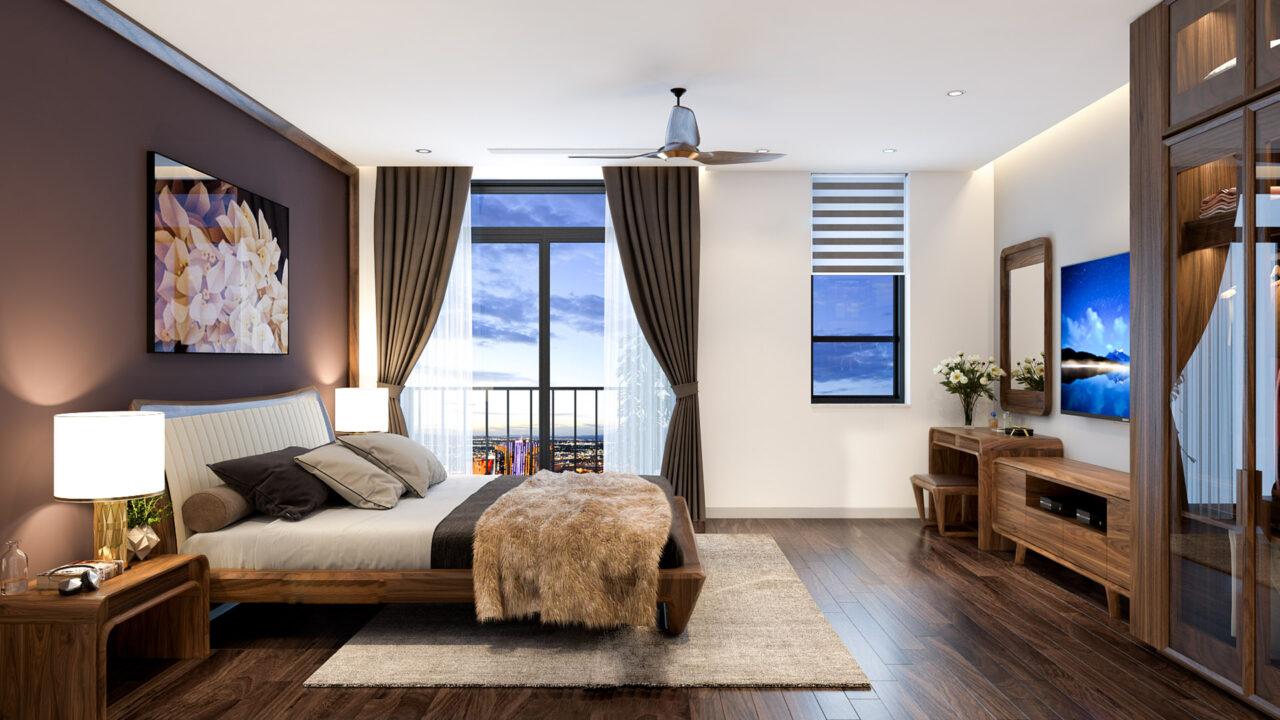 Mẫu giường truyền thống thích hộp với rất nhiều không gian phòng ngủ khác nhau