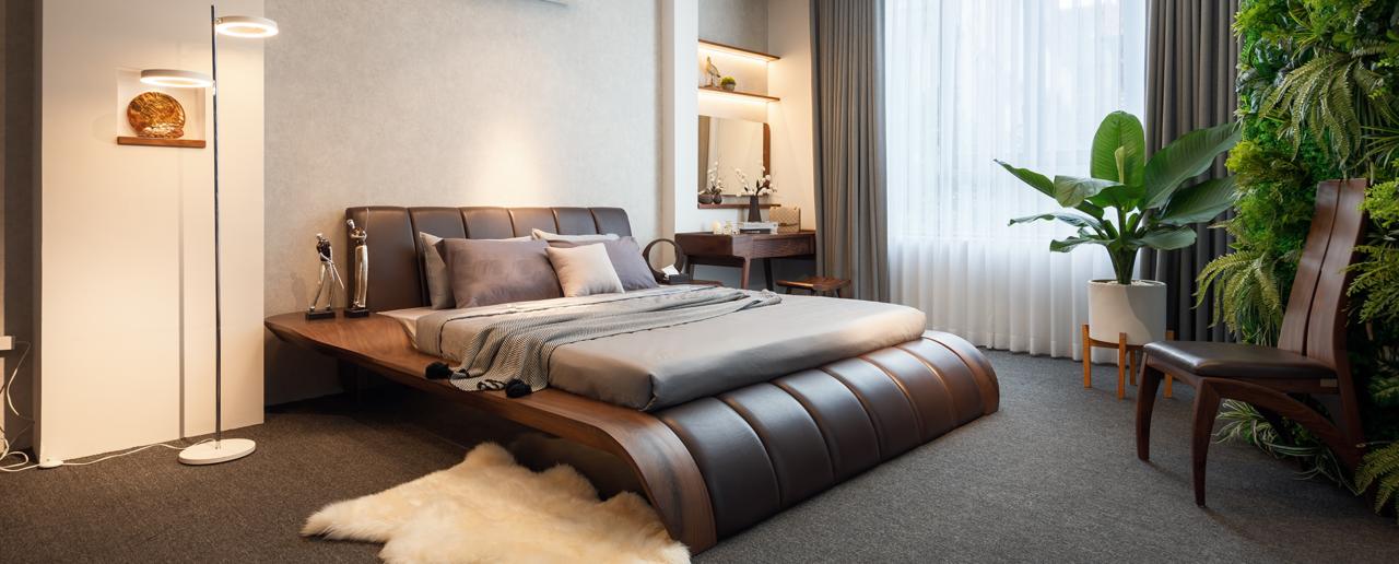 Giường ngủ chân thoải tinh tế và phong cách đại gia