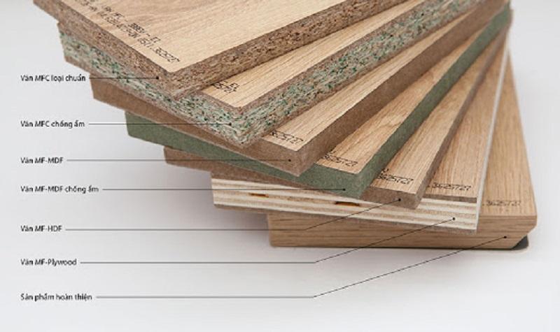 gỗ MDF gỗ được chia làm 3 loại gỗ chính