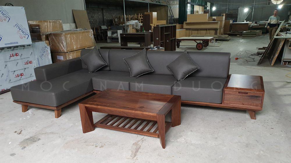 Mẫu sofa L vuông vắn, style khỏe khoắn trẻ trung
