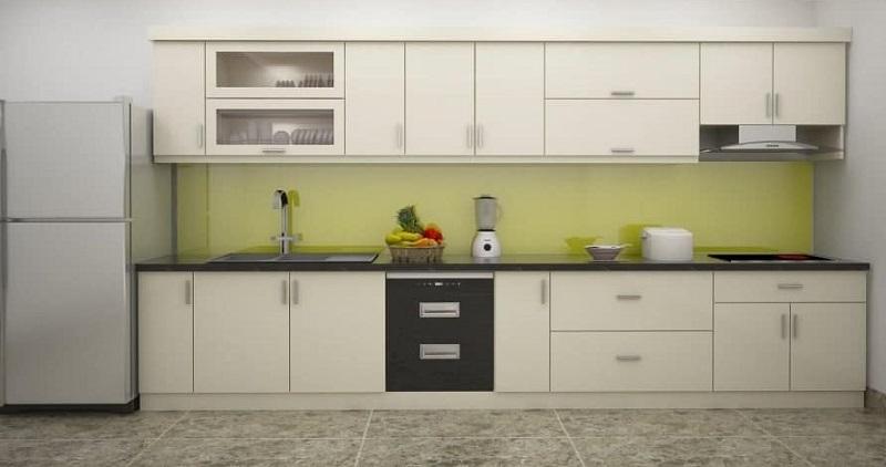 căn bếp tiện nghi được làm từ gỗ MDF