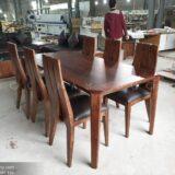 Bộ bàn ăn 6 ghế gỗ óc chó tự nhiên mã BAG 03