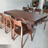 Bộ bàn ăn 8 ghế gỗ óc chó tự nhiên cao cấp