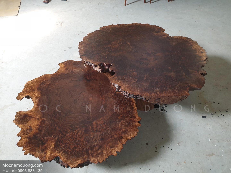 Mẫu bàn trà nu gỗ óc chó đẹp cao cấp từ gỗ tự nhiên