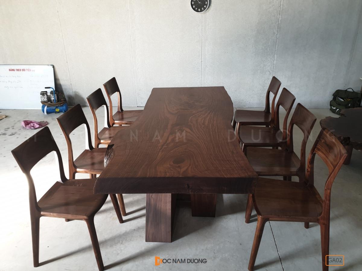 Ghế ăn gỗ óc chó GA02