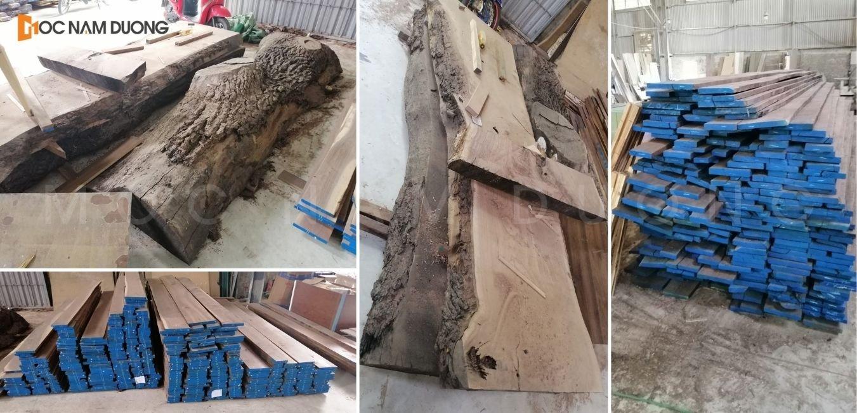 100% gỗ óc chó tự nhiên