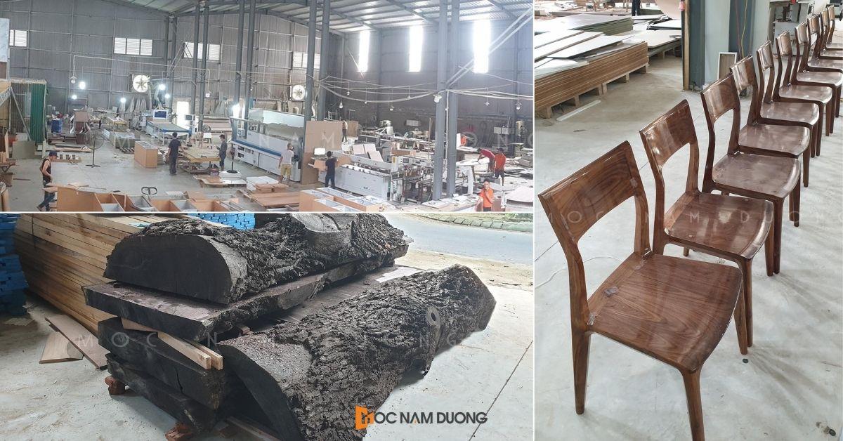 Xưởng sản xuất đồ gỗ óc chó