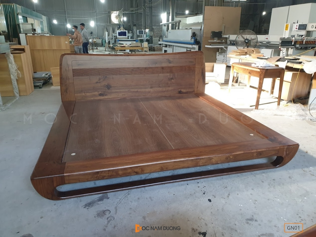 Giường ngủ gỗ óc chó gn01