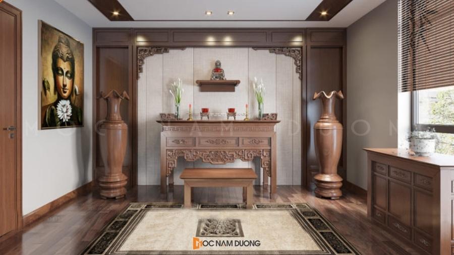 Mẫu 19: Bàn thờ đẹp cho biệt thự