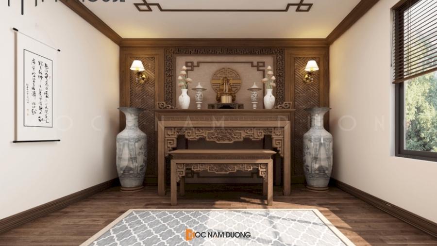 Mẫu 8: Bàn thờ đôi gồm 1 bàn thờ chính và bàn phụ