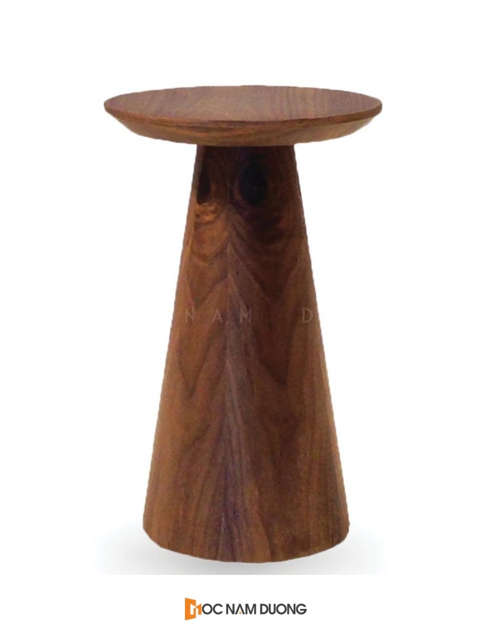 Mẫu 6: Đôn gỗ phá cách với trụ tròn thuôn dài kết hợp mặt tròn nhỏ nhắn
