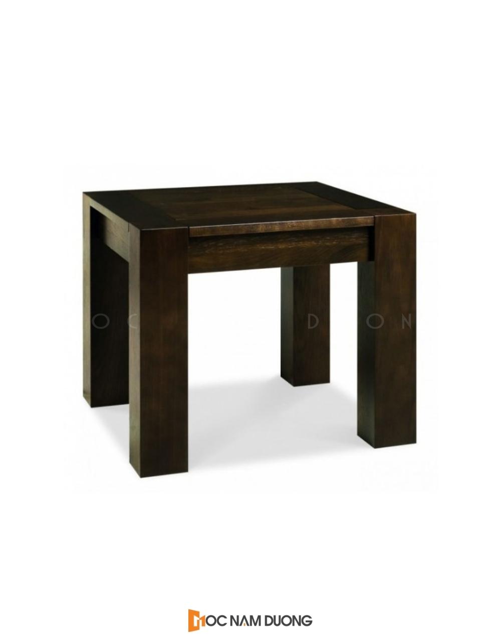 Mẫu 8: Đôn gỗ óc chó hình chữ nhật đẹp