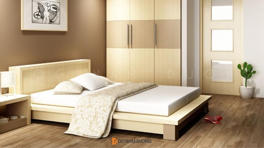 Mẫu 7: Báo giá giường ngủ gỗ công nghiệp Giá thành rẻ hơn rất nhiều so với gỗ tự nhiên