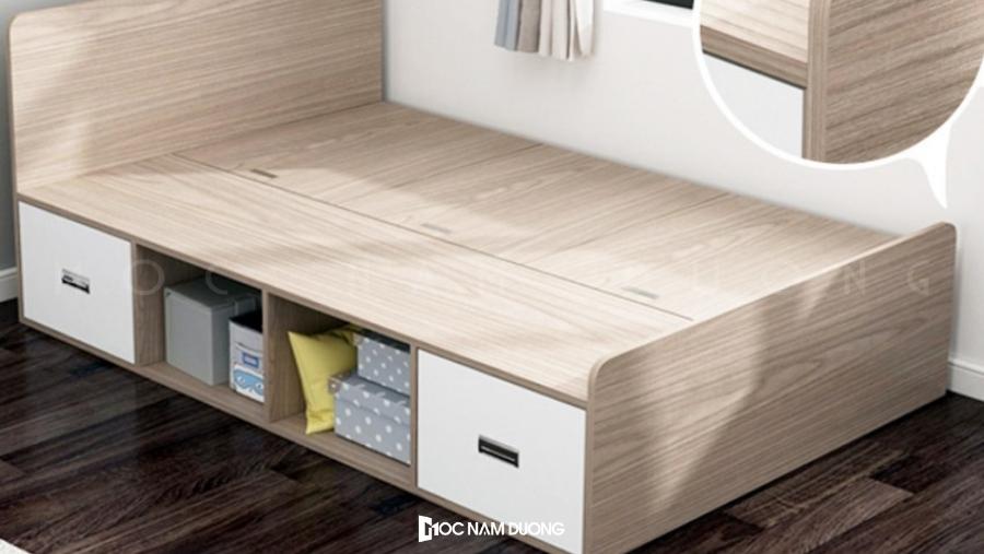 Mẫu 3: Giường gỗ công nghiệp phong cách hiện đại
