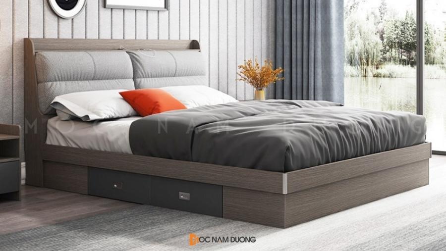 Mẫu 5: Giường ngủ gỗ công nghiệp bề mặt phủ melamine đẹp giá rẻ