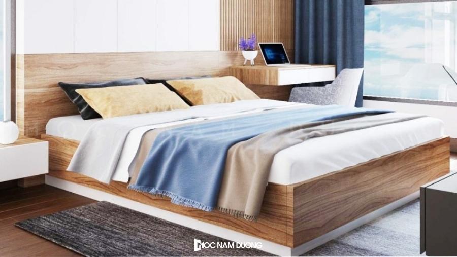 Mẫu 8: Giường ngủ gỗ công nghiệp 1m6 đẹp và hiện đại