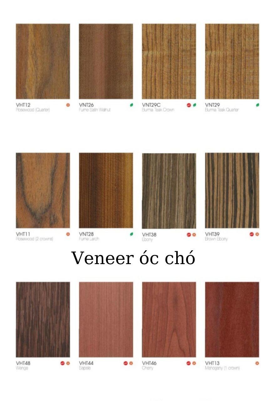màu gỗ óc chó an cường veneer
