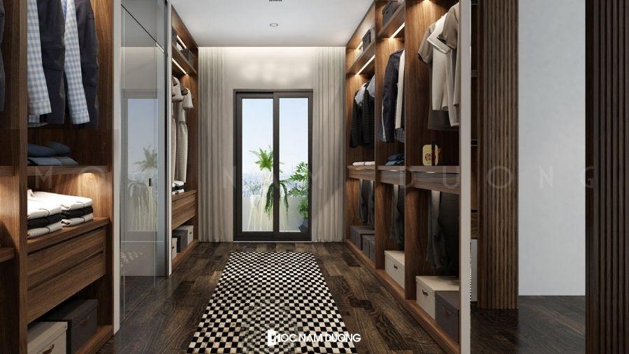 Mẫu 3: Tủ áo rộng thiết kế sang trọng và đẳng cấp dành cho biệt thự