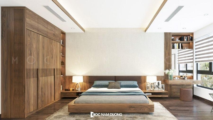 Mẫu 5: Tủ quần áo gỗ truyền thống kiểu cửa lùa tiết kiệm diện tích