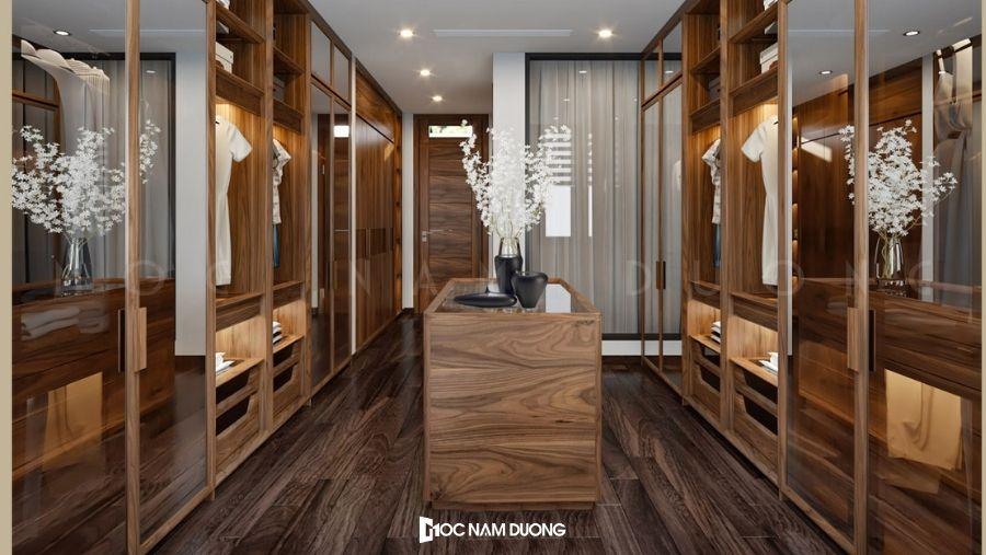Mẫu 8: Mẫu tủ quần áo hot 2021 được ưa chuộng cho biệt thự