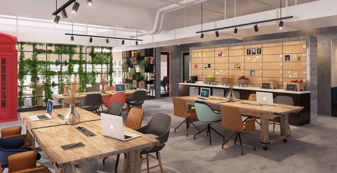 Thiết kế nội thất văn phòng chia sẻ Co-working