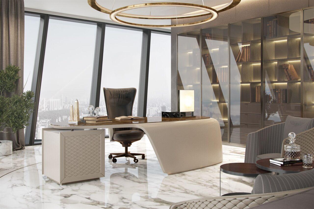 Mẫu thiết kế nội thất văn phòng đẹp cao cấp Luxury