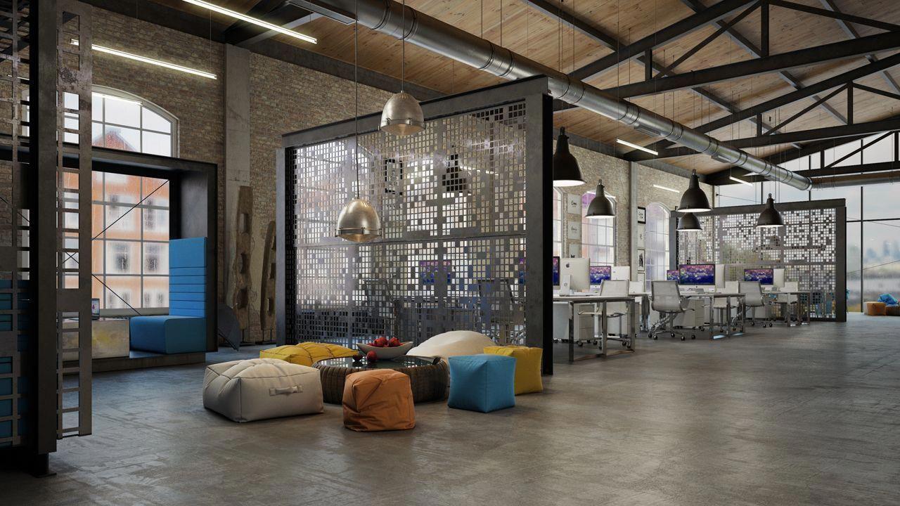 văn phòng công nghiệp Industrial Style