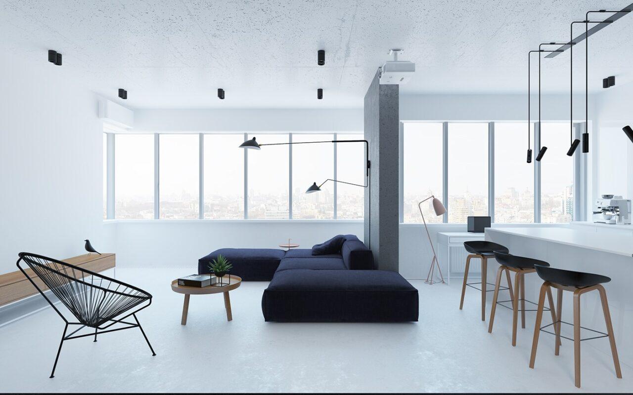 thiết kế văn phòng tối giản Minimalism