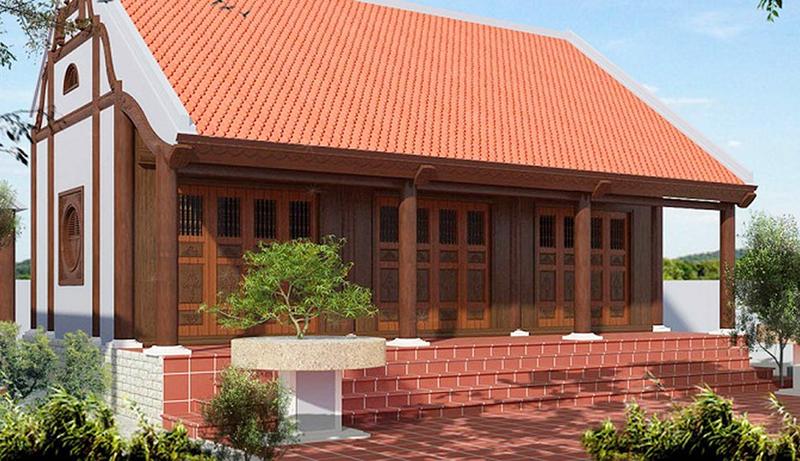 Thiết kế nhà gỗ 3 gian hiện đại: hay còn gọi là nhà ngang