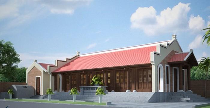 Mẫu nhà 3 gian hiện đại với thiết kế từ gỗ tự nhiên đúng kiểu truyền thống người Việt