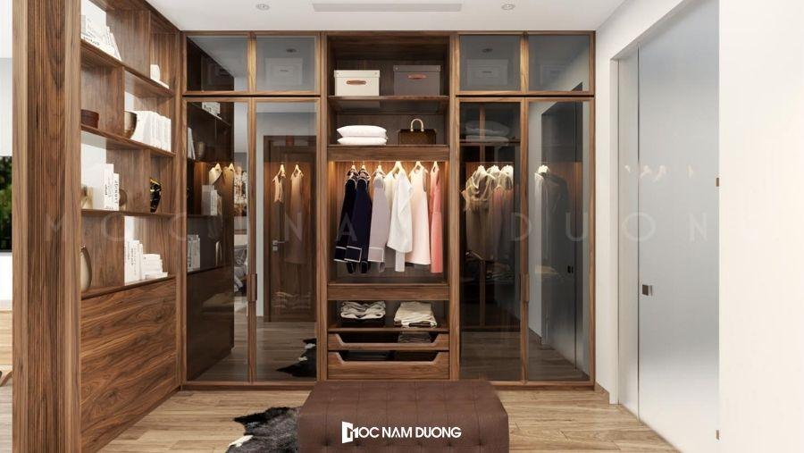 Mẫu tủ áo hiện đại đề cao sự đơn giản