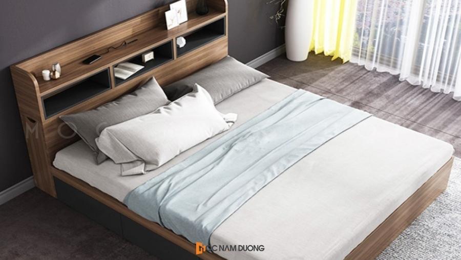 Nội thất gỗ công nghiệp phòng ngủ đẹp giường đôi ấn tượng