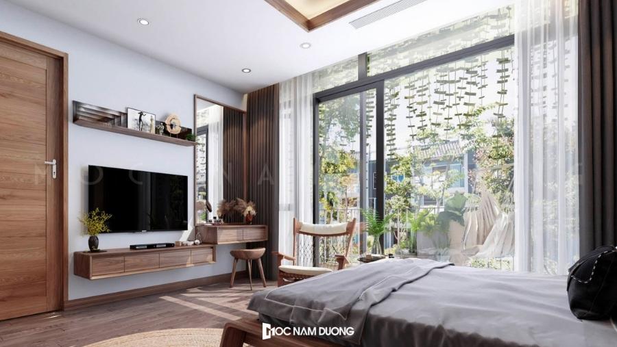 Bàn phấn đẹp với kiểu dáng gọn gàng cho phòng ngủ đẹp