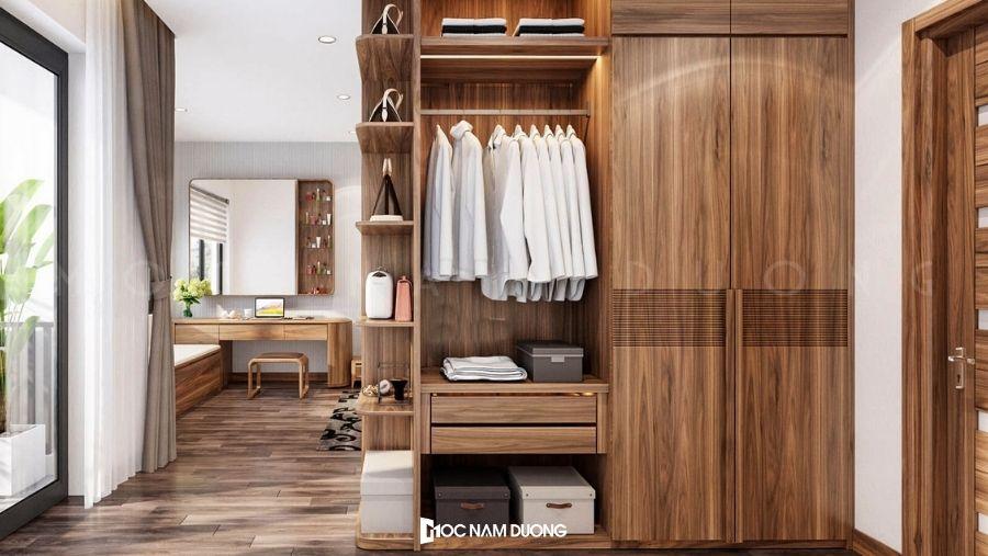 Mẫu tủ quần áo gỗ óc chó 6
